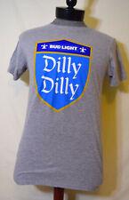Bud Light Dilly Dilly Womens Medium T-Shirt M Gray Blue Knight Shield