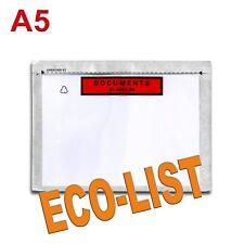 "100 Pochettes ""Documents ci-inclus"" ECO-LIST A5"