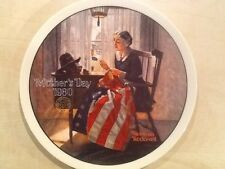 Collector's Plate Norman Rockwell A Mother's Pride 1980 Mother's Day Patriotic