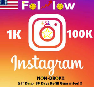Instagram REAL HQ USA Follow | Instant!🔥 | 𝐍𝐎𝐍𝐃𝐑𝐎𝐏!🔥 | 30 Days Refill!