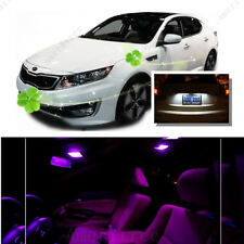 For Kia Optima w/ sunroof 2011-15 Pink LED Interior Kit +White License Light LED