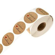500pcs Handmade Love Thank you Stickers Seals Scrapbook DIY Craft Lables Supply