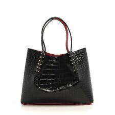 CHRISTIAN LOUBOUTIN 1350$ Small Black Creative Leather Cabarock Tote Bag