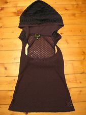 GYPSY CIRCUS medieval brown lace hooded underbust corset top XS bohemian gypsy
