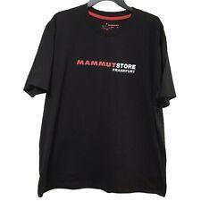 Mammut Store Mens 2XL Black Short Sleeve T Shirt Graphic Outdoor Hiking Logo