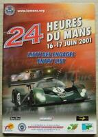 LE MANS 24 HOUR ENDURANCE CAR RACE June 2001 Official ENTRY List Booklet