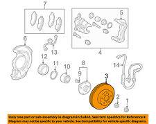 TOYOTA OEM Front Brake-Disc Rotor 4351233042