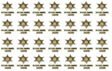 1/64 Hazard County Sheriff  WATER-SLIDE DECALS FOR HOT WHEELS, MATCHBOX,