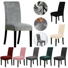Wedding Banquet Velvet Removable Stretch Slipcover Dining Chair Cover
