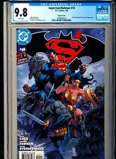 SUPERMAN/BATMAN 10 CGC 9.8 W pgs DC 2004 Jim Lee cover