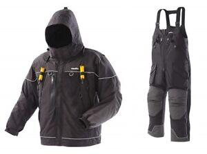 Frabill I5 Jacket & Bib Ice Fishing Suit Combo, Black, Medium