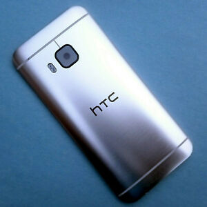 100% Genuine HTC One M9 rear housing+camera glass battery cover back side Silver