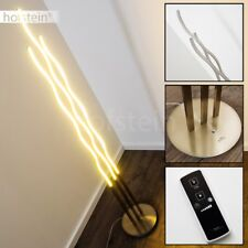 Luce LED Dimmerabile Piantana Acciaio Nichel Lampada Terra Design Salotto 30 W