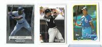 3-card Bo Jackson lot - Topps - Prizm - Upper Deck