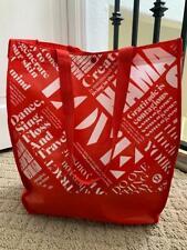 NEW Lulemon Manifesto Reusable Tote Bag Eco Red LARGE Lunch Yoga Gym Shopping