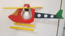 Hubschrauber - Lampe - Kinderzimmer - Deckenleuchte / Deckenlampe - Holz