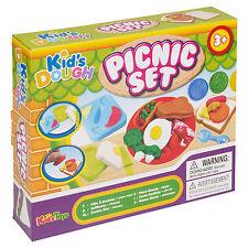19Pc Picnic Clay Kids Dough Set Modelling Shapes Tubs set Craft Gift Toys Xmas