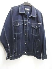 Southpole Mens Blue Jean Denim Jacket Dark Wash Button Urban Style - Size Large
