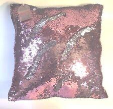 Rose / Silver Sequin Pillow Mermaid Magic Glitter Reversible  16'' #3 //US SHIP