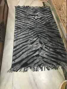 Modern Handmade Cotton Area Rug Indian Dhurrie Eco Friendly Black And Grey Color