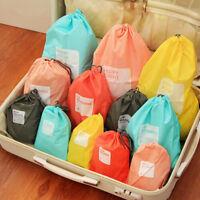 4Pcs Waterproof Nylon Travel Storage Bag Home Drawstring Organize Pouch Bag
