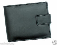 RFID BLOCKING Wallet For Mens Bifold Zipped Coin Purse And ID Window 42 Black