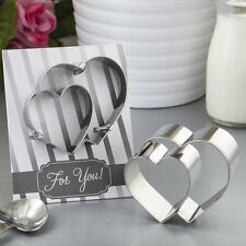 Double Heart Design Cookie Cutters Bridal Shower Wedding Favors