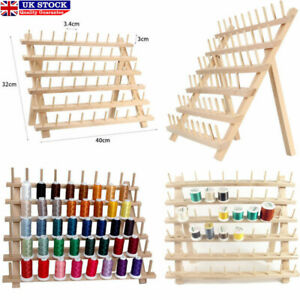 60 Spool Wood Sewing Thread Stand Organizer Craft Embroidery Storage Rack Holder