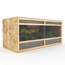 Terrarium 120 cm Holz Holzkäfig OSB Plexiglas Reptilien Schlangen Holzterrarium