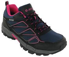 Hi-tec Waterproof Walking Trainers Womens Suede Ripper Low Hiking Shoes UK 4-8