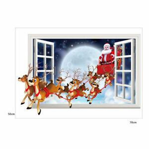 Christmas Wall Sticker Decal Art Decorative Vinyl Mural Poster Scene Window Door