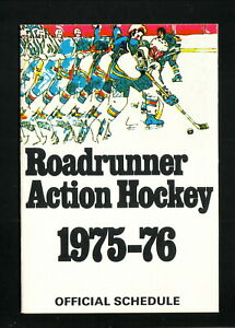 Phoenix Roadrunners--1975-76 Pocket Schedule--Charlie Rossie Ford--WHA
