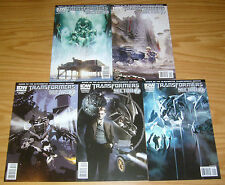 Transformers: Sector 7 #1-5 VF/NM complete series based on movies idw comics set