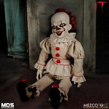 "IT Pennywise MDS 18"" Plush Figure The Clown Mezco Toyz Horror Damaged Packaging"