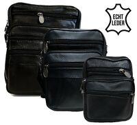 Echt Leder Umhängetasche Schultertasche Flugbegleiter Handtasche Street Bag Neu