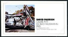 1973 David Parrish Harley Davidson motorcycle painting Paris gallery print ad