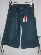 Destiny Jeans Crop Capris 11/12 Blue Cotton Blend Stretchy Wide Bottoms NWT