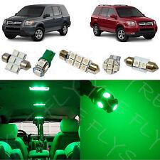 12x Green LED lights interior package kit for 2006-2008 Honda Pilot HP2G