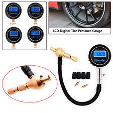 Car Motorcycle Truck Tire Pressure Gauge Air Deflator Bleeder Valve Tool Kit