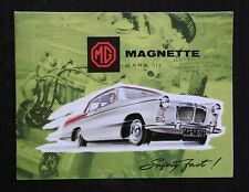 """1959 """"THE MG MAGNETTE MARK 111"""" CATALOG SALES BROCHURE FOLD-OUT POSTER"""