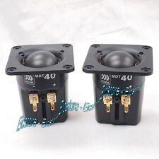 "MOREL MDT-40 1"" Textile Dome Neodymium magnet Hexatech voice coil Tweeter Pair"