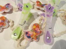 hübsche Memo Foto Halter Schnur mit Blume Klammer & Schmetterlinge C
