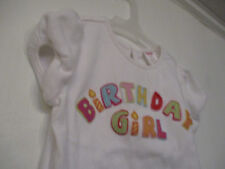 "Gymboree Size 4T Girl's 100% cotton ""Birthday Girl"" T-shirt"
