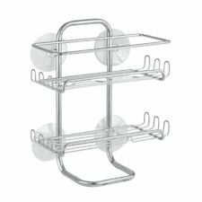 NEW InterDesign Classico Suction Bathroom Caddy – Shower Storage Shelves Basket
