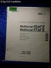Sony Bedienungsanleitung CPD 15SF2 /17SF2 Multiscan Computer Display (#2045)