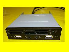 frontpannel Lector de tarjetas,TARJETAS 3,5 pulgadas 2x USB/SD/MMC / SM/CF