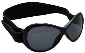 Baby Banz Retro Sunglasses Midnight  Black 0-2 New 100%UV Protection