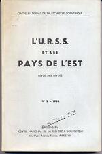 M. MOUSKHELY, L'URSS ET LES PAYS DE L'EST - REVUE DES REVUES