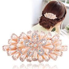 Wedding Party Hair Clip Flower Crystal Rhinestone Pearl Barrette Accessorise
