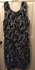 J.B.S Ltd Women's Sleeveless Dress Black W/ White Plus sz 26W